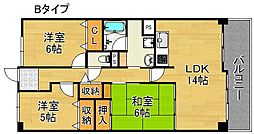 サワ—・ドゥー住之江公園[2階]の間取り