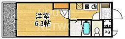 ハイポジション銀閣寺[401号室号室]の間取り