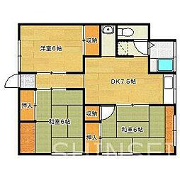 栄コーポ[1階号室]の間取り