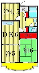 お花茶屋中央マンション[3階]の間取り