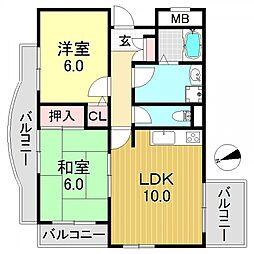 ファトゥルージェ[6階]の間取り