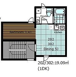 asakusa COMPLEX 2階1DKの間取り