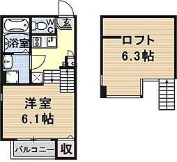 仮称)京都市山科区大宅関生町SKHコーポ[A102号室号室]の間取り