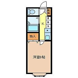 アパーテル南石堂C/D棟[1階]の間取り