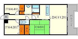 アメニティ江戸堀[4階]の間取り