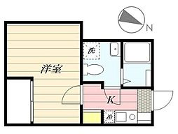 成田スカイアクセス 京成高砂駅 徒歩6分の賃貸アパート 1階1Kの間取り