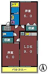 サンボナール(八千代)[202号室]の間取り