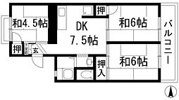 桃園ハイツ[2階]の間取り