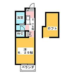ピアホーム下中野[2階]の間取り