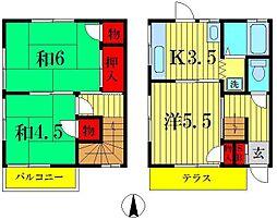 [テラスハウス] 埼玉県三郷市彦沢1丁目 の賃貸【/】の間取り