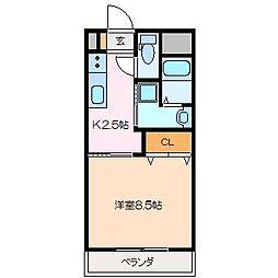 仮)久保田町MマンションB棟[3階]の間取り