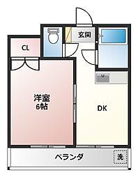 上永谷コーポラス(カミナガヤコーポラス)[3階]の間取り