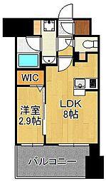 グランフォーレ小倉シティタワー 12階1LDKの間取り