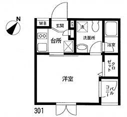 プレステージ石神井II[3階]の間取り