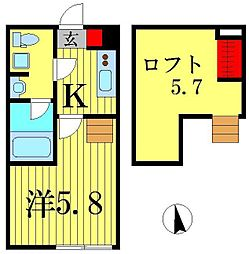 Prima柴又[2階]の間取り