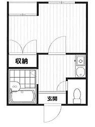 東京都荒川区町屋4丁目の賃貸マンションの間取り