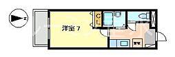YKハイツ星陵台[1階]の間取り