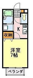 マノワールI[2階]の間取り