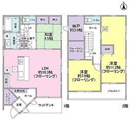 [一戸建] 神奈川県藤沢市城南4丁目 の賃貸【/】の間取り