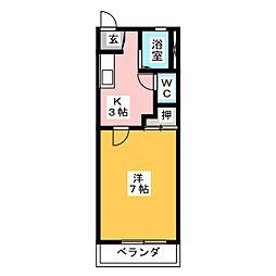アルファIII[2階]の間取り