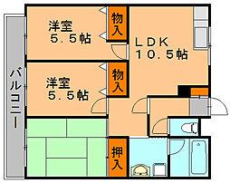 藤蔵ドムス[2階]の間取り