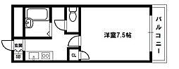 大阪府大阪市東淀川区小松1丁目の賃貸アパートの間取り