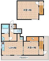 兵庫県神戸市中央区坂口通7丁目の賃貸マンションの間取り