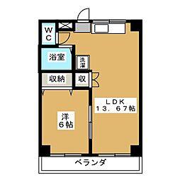 コミューン山王[2階]の間取り