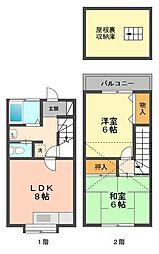 東京都江戸川区西小岩4丁目の賃貸アパートの間取り