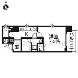 ベラジオ五条堀川III307[3階]の間取り