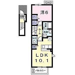 ヴィオラハウス I[2階]の間取り