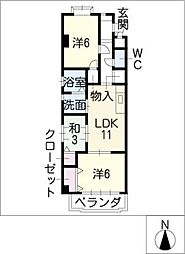 プルミエ XI[3階]の間取り