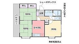 森田コーポ[201号室]の間取り