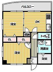 ロマネスク桜坂第2[4階]の間取り