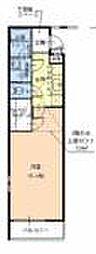 大阪府堺市堺区北清水町3丁の賃貸アパートの間取り