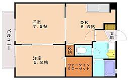 キャンベルハウス[2階]の間取り