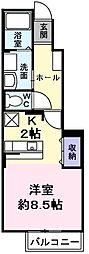 レジデンス プロムナード[1階]の間取り