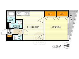 ビアン緑地2[3階]の間取り