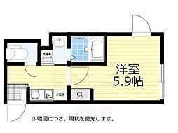 JR中央線 荻窪駅 徒歩7分の賃貸マンション 3階1Kの間取り