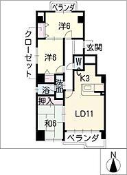 ピュアII原町[7階]の間取り