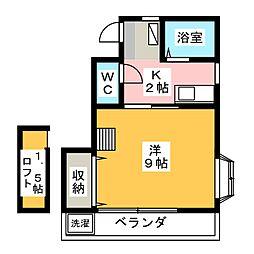 ケイエムII[2階]の間取り