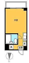 東京都世田谷区宮坂2丁目の賃貸マンションの間取り