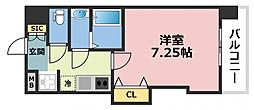 Luxe深江橋 10階1Kの間取り