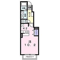 JR日豊本線 下曽根駅 徒歩15分の賃貸アパート 1階1Kの間取り