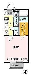ロサージュ永楽[1階]の間取り