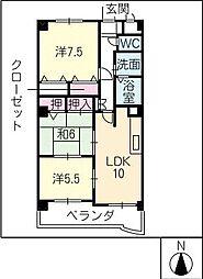 ボヌールメゾンみかさ[3階]の間取り