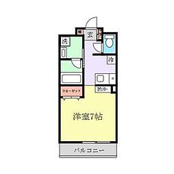 エクセル新川崎II[2階]の間取り