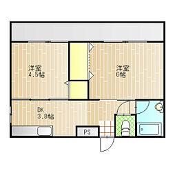 フラワーハイツゴトウ[2階]の間取り