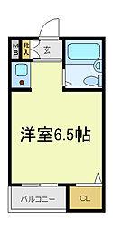 AハイツB[3階]の間取り