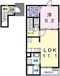 ラ・ルーチェI[2階]の間取り